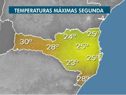 Segunda-feira terá tempo seco em Santa Catarina