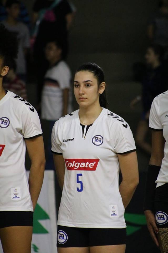 Atleta de voleibol da CME de São Ludgero na Liga Nacional.