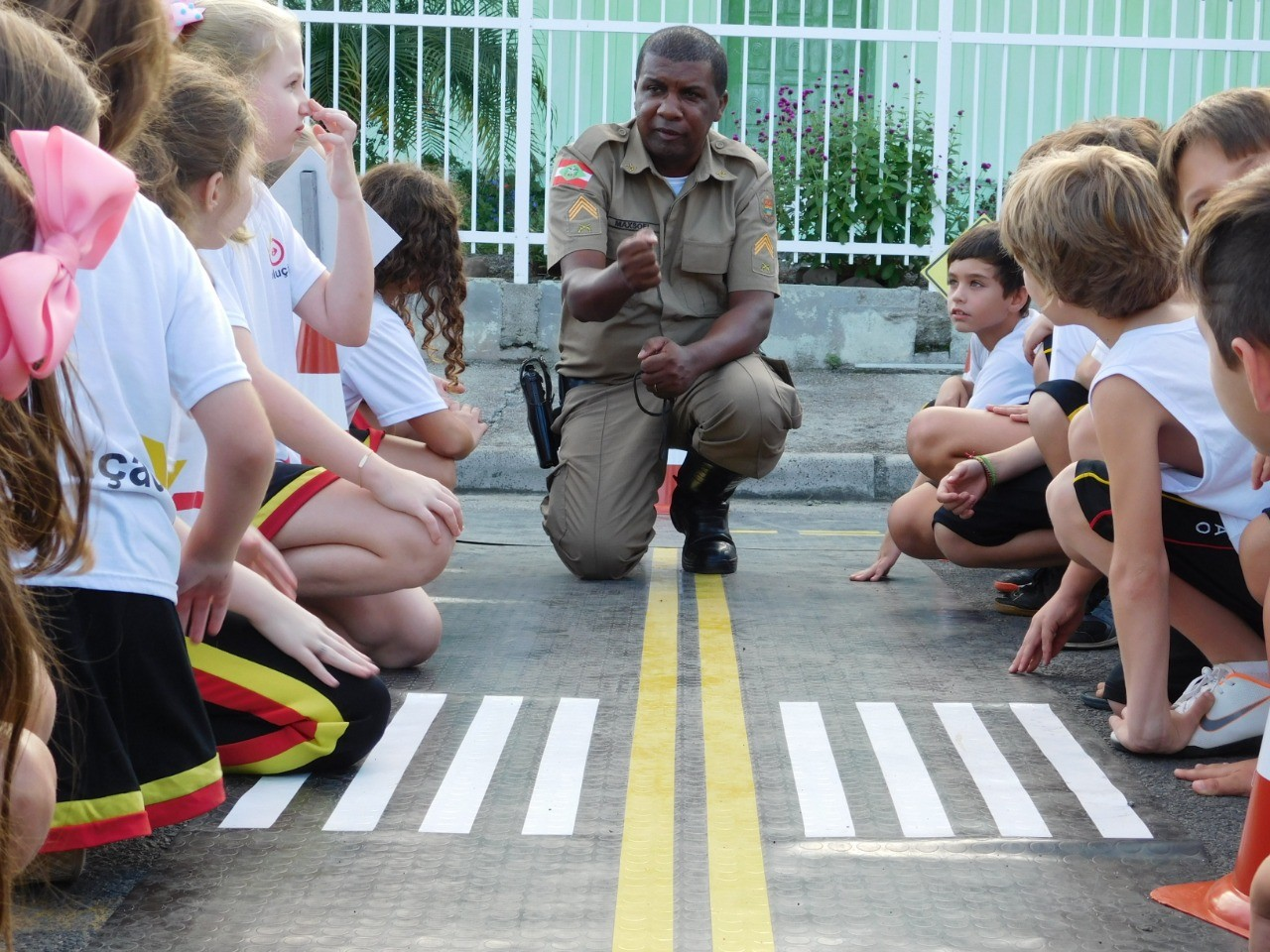 Escolinha de Trânsito recebe 996 crianças, em São Ludgero