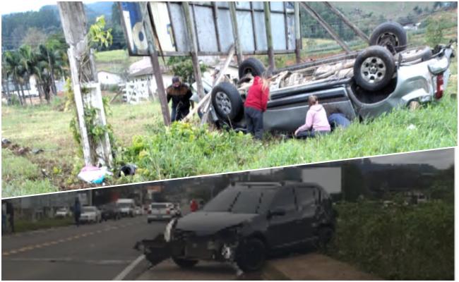 Colisão deixa uma pessoa ferida em São Ludgero