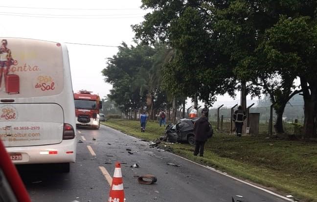 Acidente grave é registrado na SC-370, em Braço do Norte