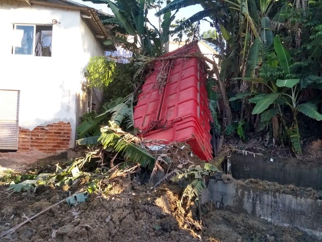 Acidente com caminhão teve apenas danos materiais em São Ludgero