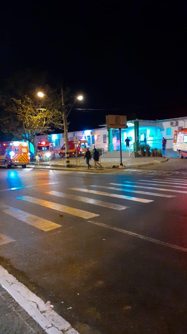 Acidente deixa vários feridos, entre São Ludgero e Braço do Norte